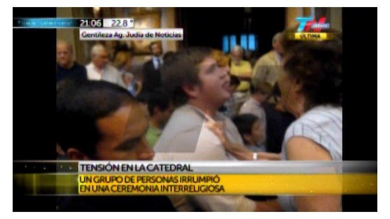 Un grupo de ultraconservadores intentó impedir que se haga un acto interreligioso en la Catedral 0010358287
