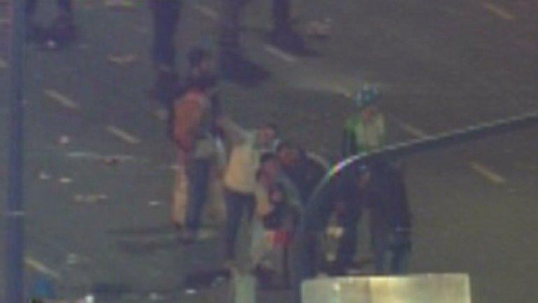 La selfie de los violentos que provocaron destrozos por el centro porteño.