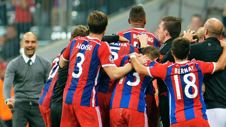 El Bayern de Pep logró un triunfo agónico ante el City de Pellegrini