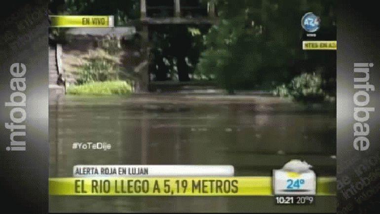 Basilica Lujan inundacion