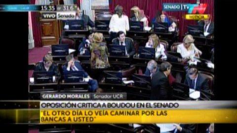 Morales volvió a pedir la suspensión de Boudou en el Senado.