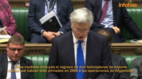 Michael Fallon detalló el plan para Malvinas en el Parlamento británico