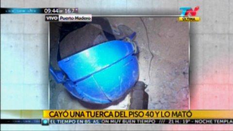 Un obrero murió al caerle en la cabeza una tuerca desde un piso 40
