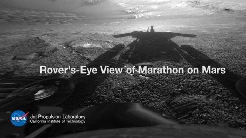 Opportunity en Marte. A la derecha, un mapa con el recorrido