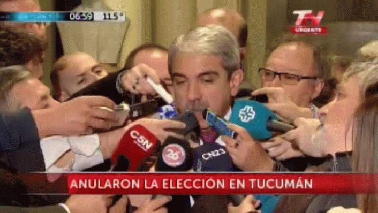"""Aníbal Fernández: """"El fallo de Tucumán es destituyente y va a terminar en la Corte"""""""