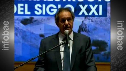Daniel Scioli defendió la actividad minera tras el derrame de cianuro.