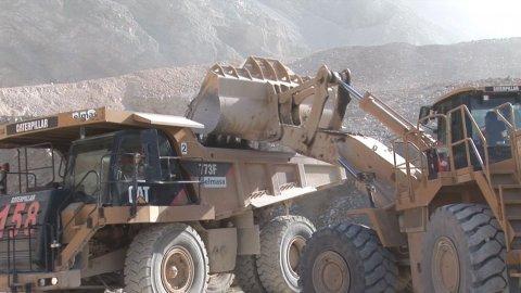 Así empieza la explotación de una mina en San Juan