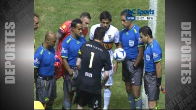 Insólito: el buzo de Agustín Orion puso en riesgo el amistoso de Boca