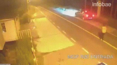 El hecho ocurrió el 31 de diciembre a las 4 de la madrugada, a la altura del kilómetro 100 de la Ruta 20