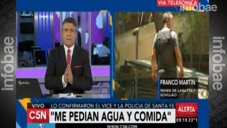 Martín Franco relató cómo fue secuestrado por los prófugos