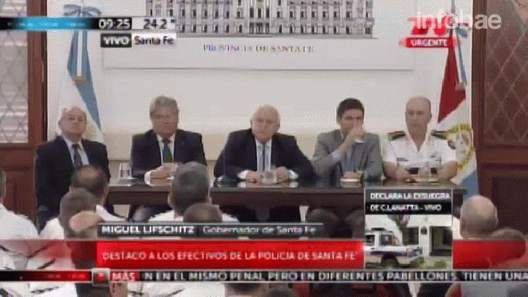 La conferencia de prensa que dio Miguel Lifschitz por la captura de los sicarios
