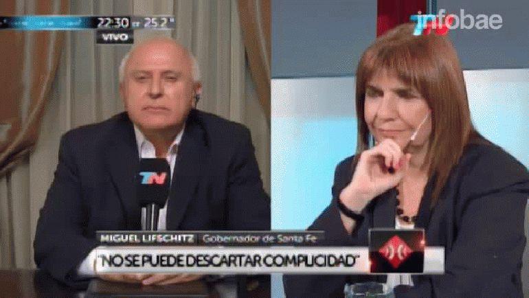 Miguel Lifschitz disparó contra Cristian Ritondo mientras la ministra Patricia Bullrich escuchaba atentamente