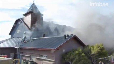 Así fue el incendio del hotel Alto Calafate