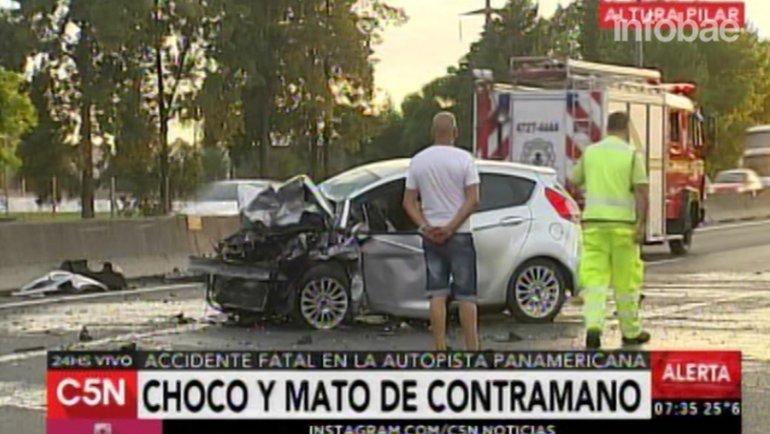 El accidente se produjoen el kilómetro 28,500 de la autovía