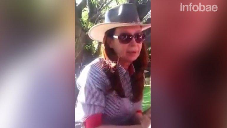 El mensaje de Cristina Kirchner fue grabado en un video casero
