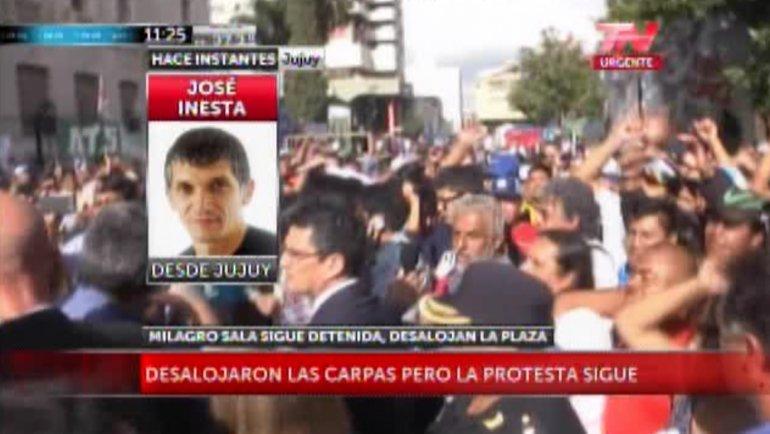 Imágenes del tumulto en Jujuy