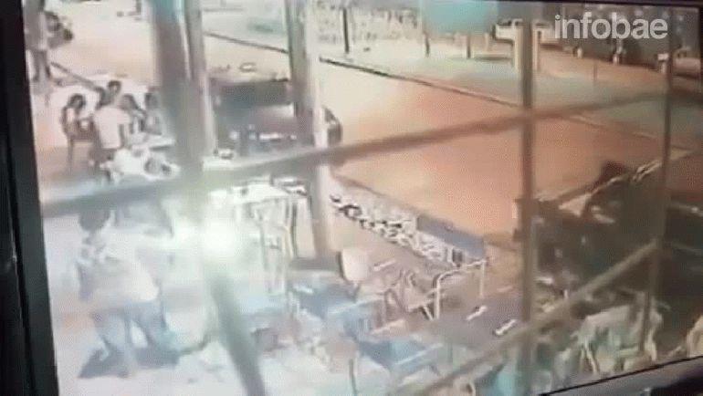 Las imágenes del ataque