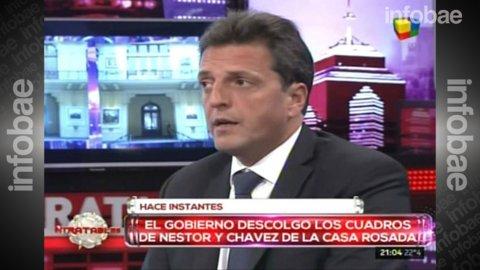 Sergio Massa, contra el retiro del cuadro de Néstor Kirchner