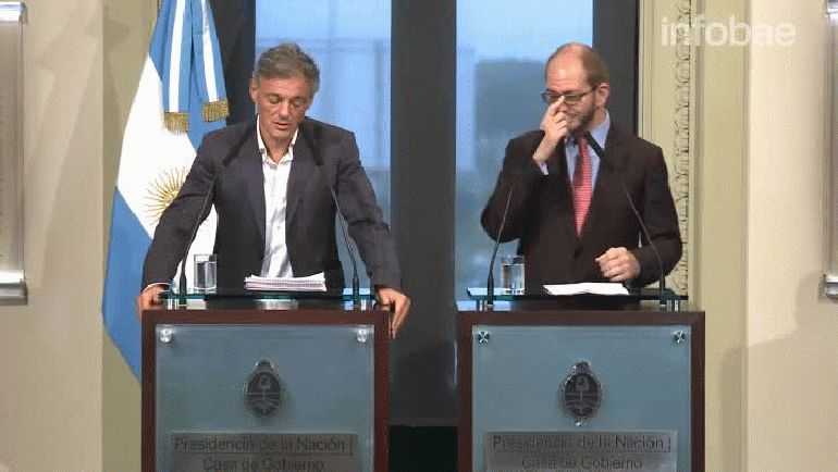El ministro de Producción, Francisco Cabrera, y el secretario de Comercio, Miguel Braun