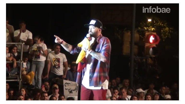 El discurso de Nacho en el concierto un grito por la libertad