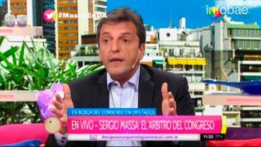 Sergio Massa: No somos tibios, aplicamos el sentido común