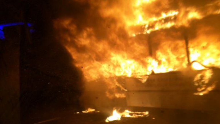 El incendio ocurrió en el Punte Pueyrredón
