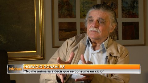Archivo: Horacio González, en una entrevista con Infobae realizada en septiembre.