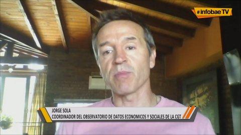 Jorge Sola, Coordinador del Observatorio de Datos Económicos y Sociales de la CGT, defendió los pedidos por un bono de fin de año