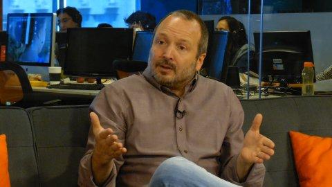 Martín Sabbatella en los estudios de InfobaeTV
