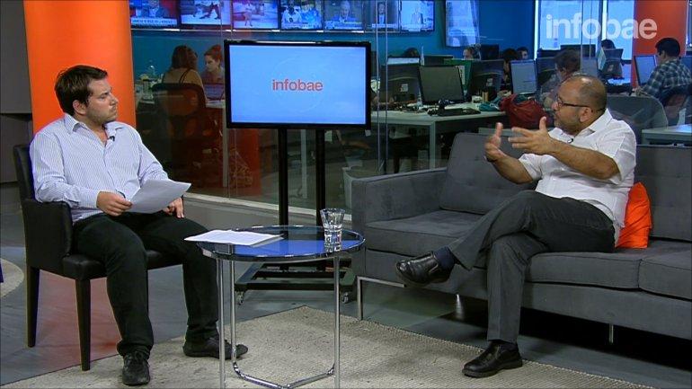 Andrés Cañizalez visitó los estudios deInfobaey se refirió al panorama político en la región
