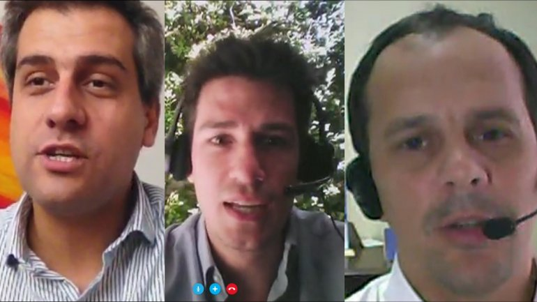 Maximiliano Castillo Carillo; Iván Carriño y Fausto Spotorno, analizaron la flotación cambiaria